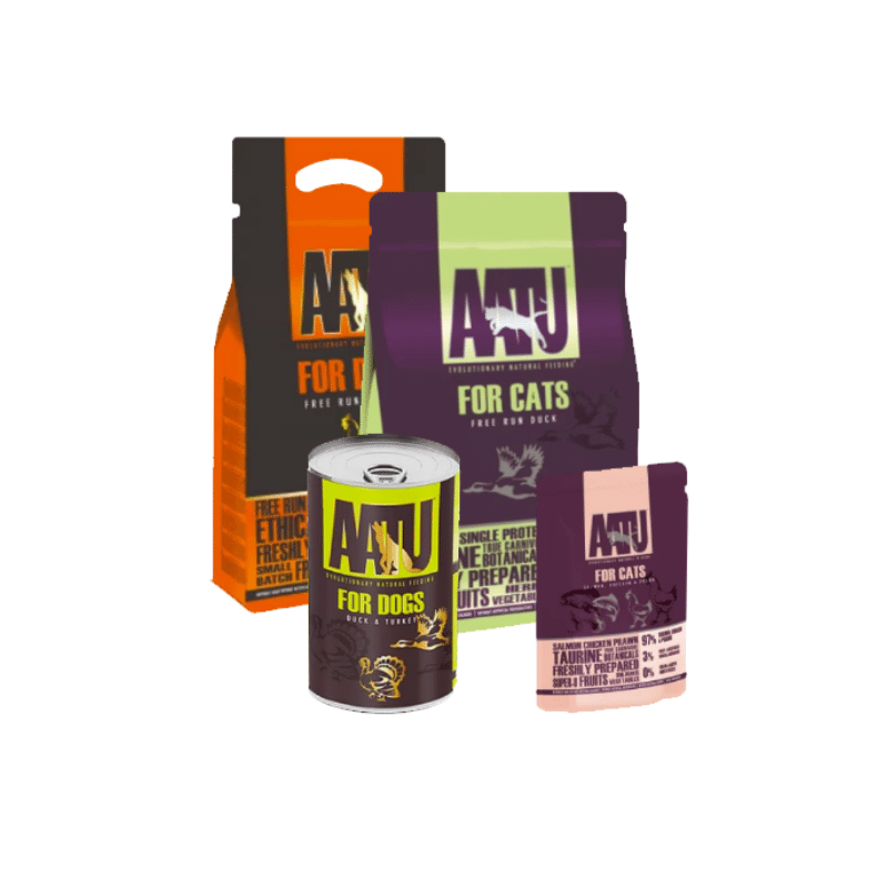 AATU, Une gamme complète d'aliments secs et humides de haute qualité.